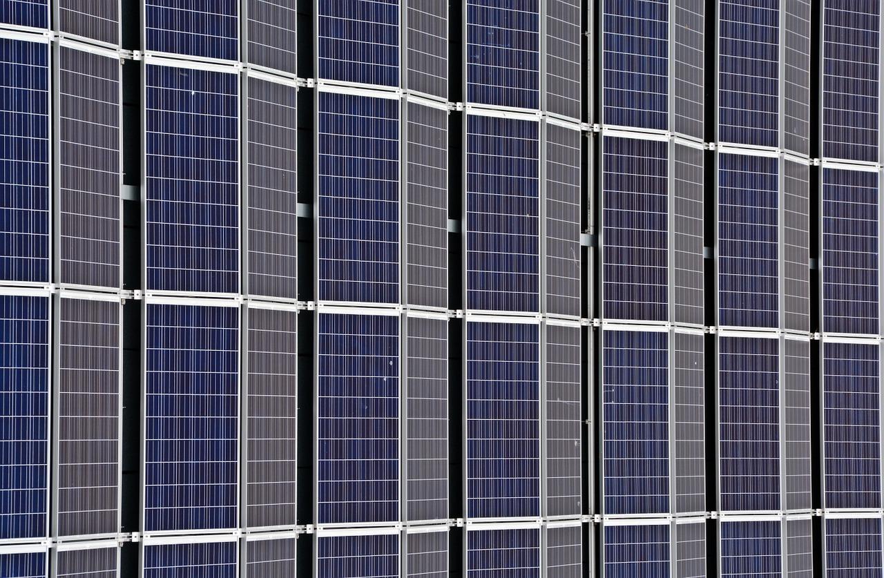solceller på platt tak